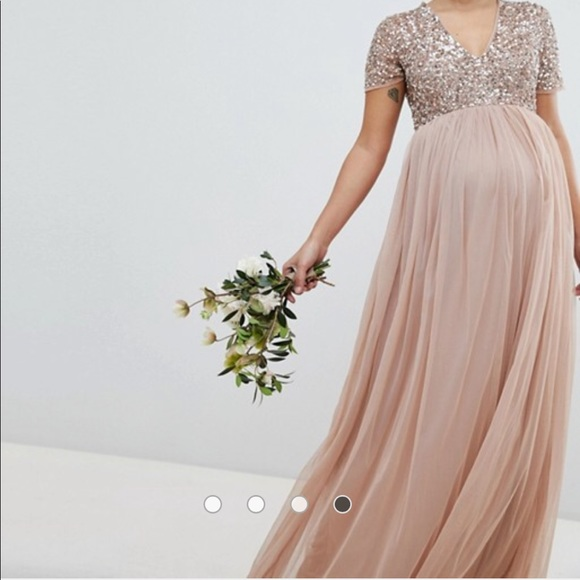 8732e6c8dbdb9 ASOS Maternity Dresses | Asos Maya Maternity V Neck Maxi Tulle Dress ...
